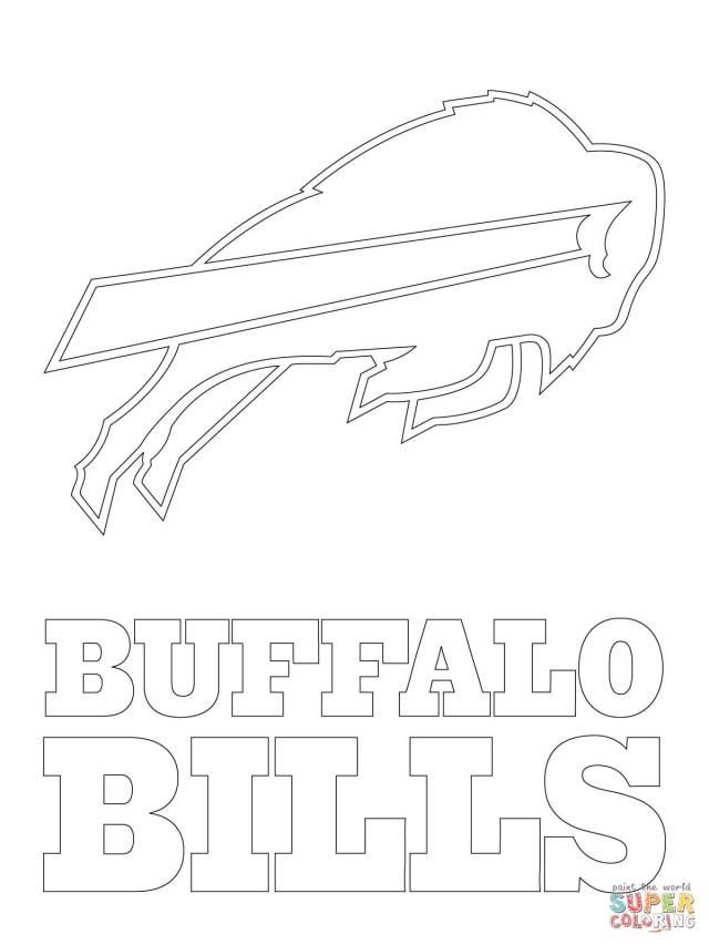 Buffalo Bills Logo coloring page  Free Printable Coloring Pages