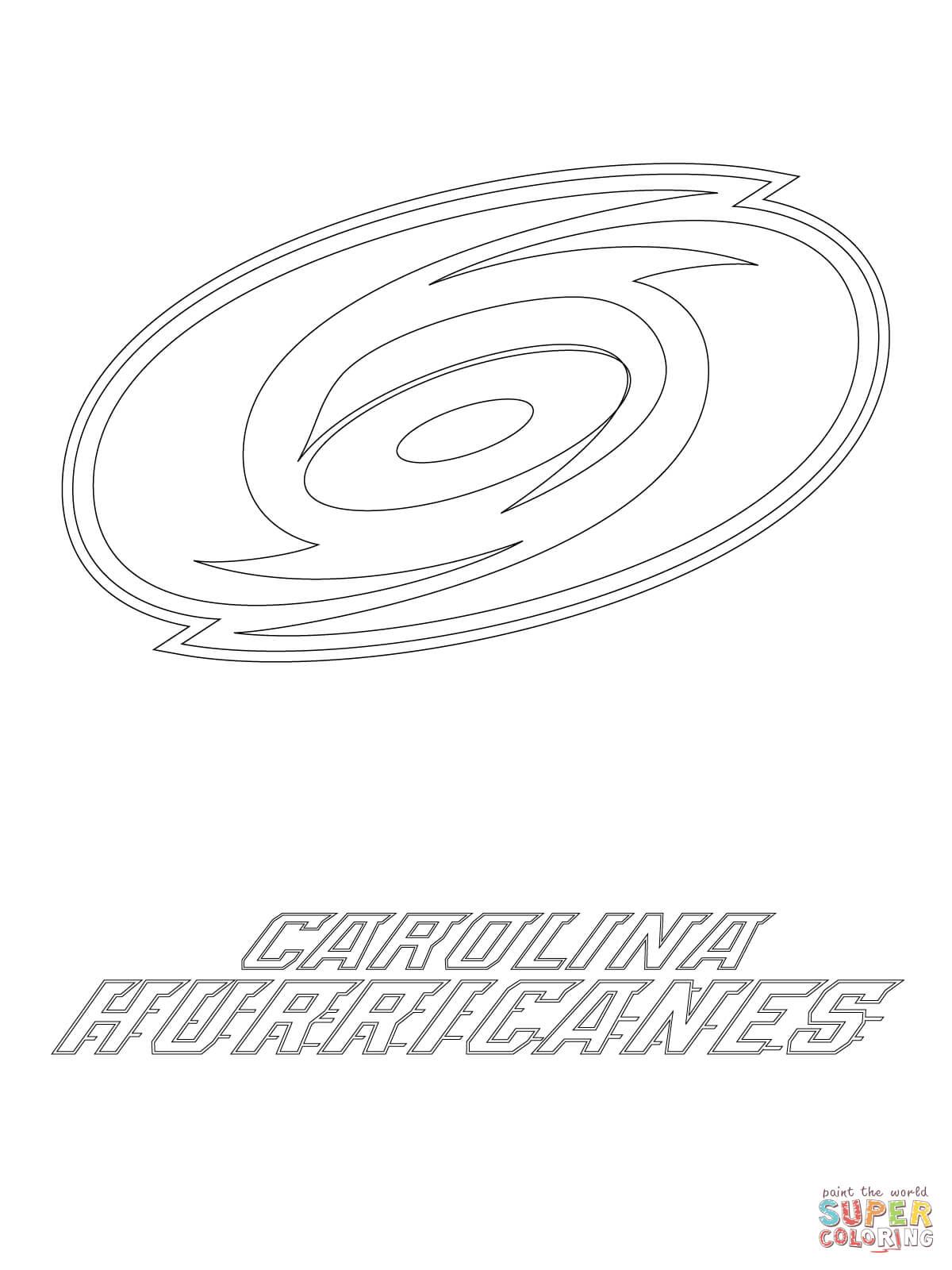 Carolina Hurricanes Logo Coloring Page