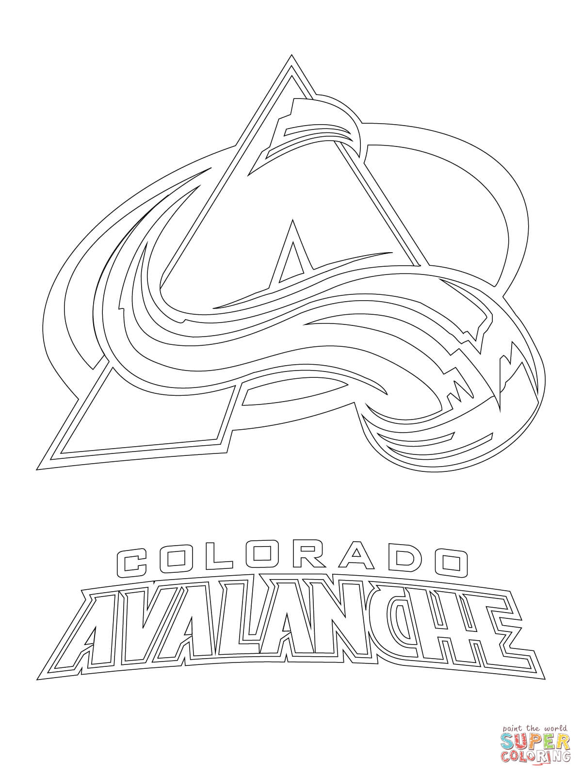 Colorado Avalanche Logo Coloring Page Free Printable