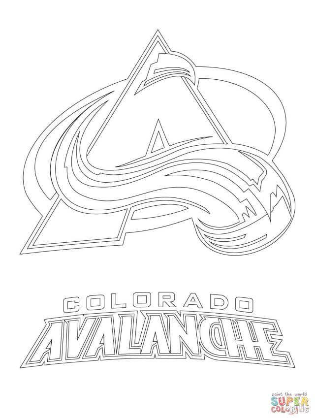 Colorado Avalanche Logo coloring page  Free Printable Coloring Pages