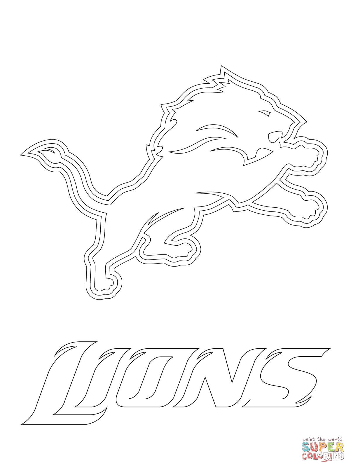 Detroit Lions Logo Coloring Page