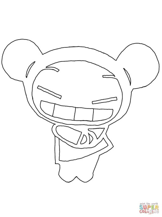 Funny Pucca coloring page  Free Printable Coloring Pages