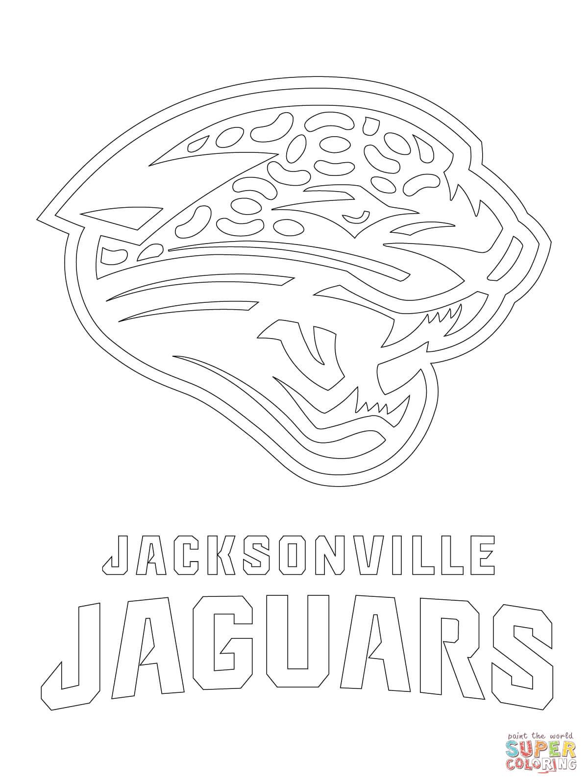 Jacksonville Jaguars Logo Coloring Page Free Printable Coloring