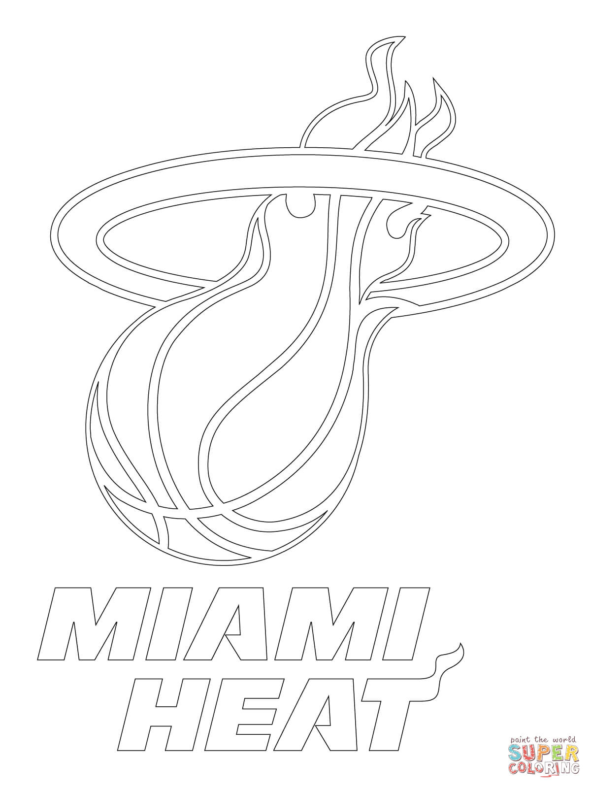 miami heat coloring pages free coloring pages download xsibe nba