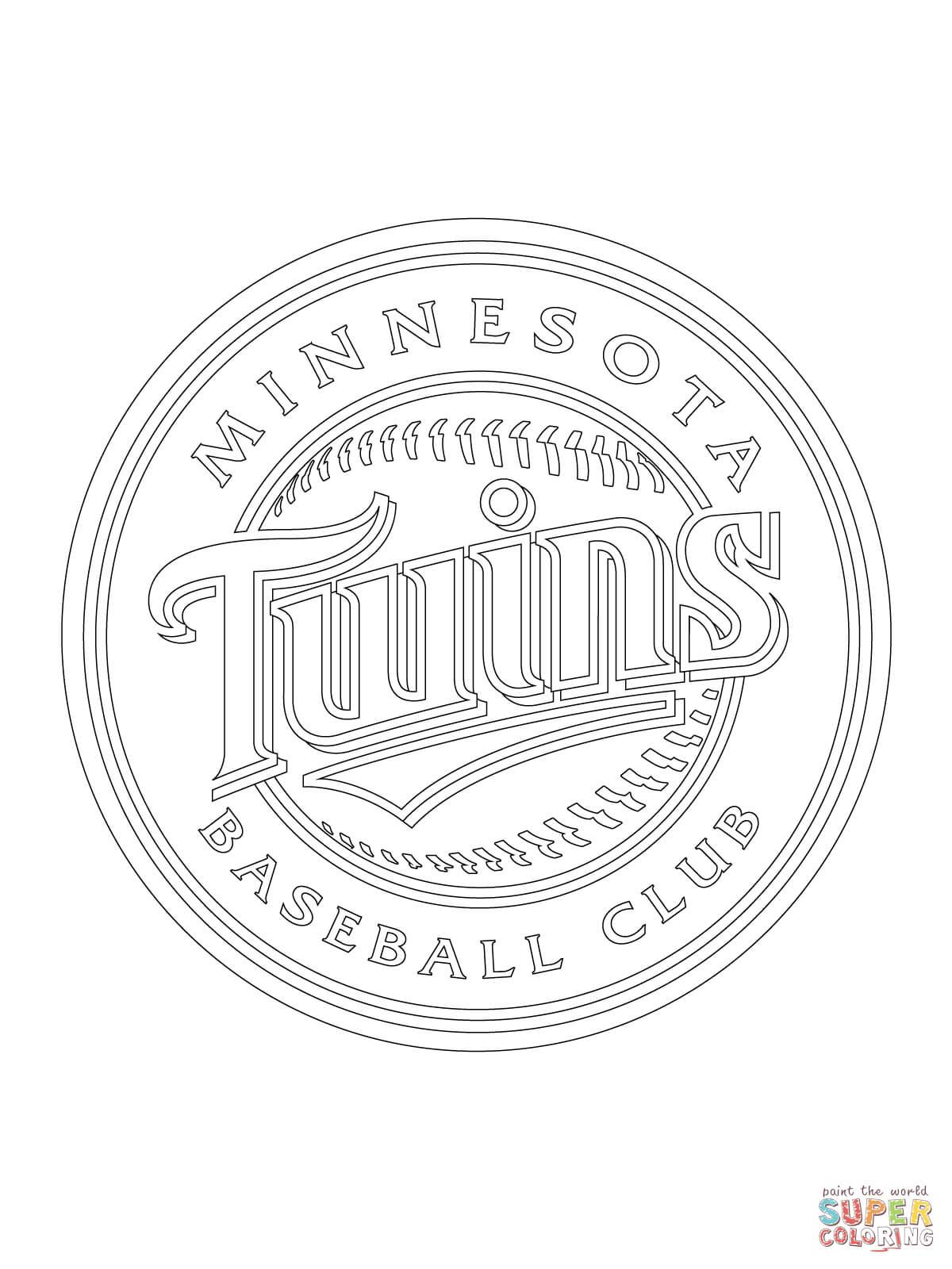 Minnesota Twins Logo Coloring Page