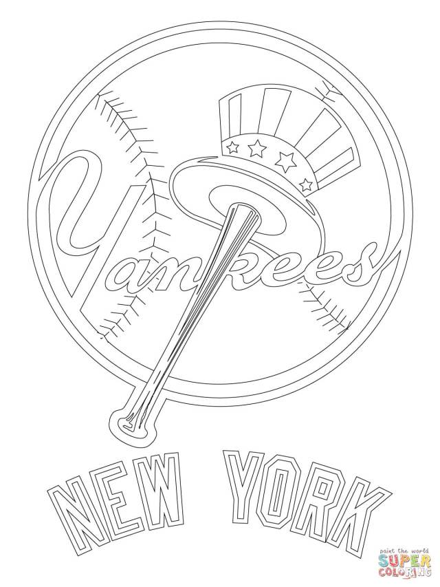 New York Yankees Logo coloring page  Free Printable Coloring Pages