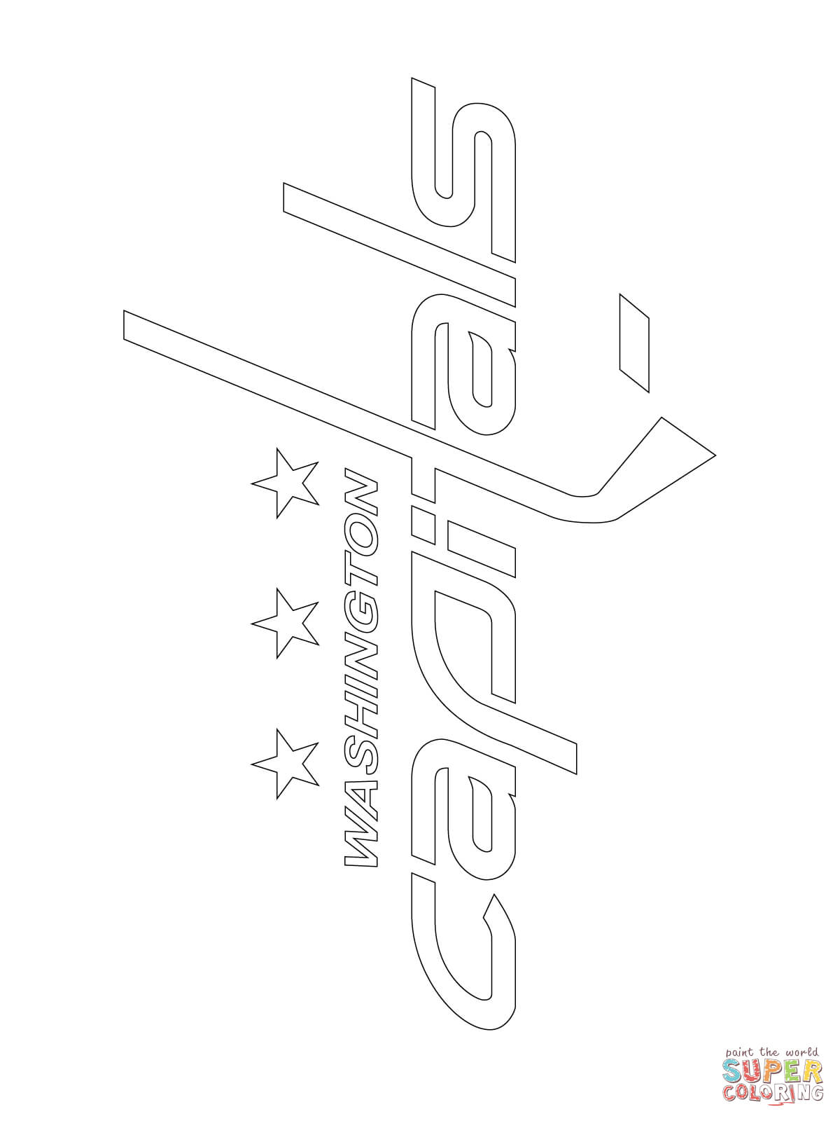 Washington Capitals Logo Coloring Page