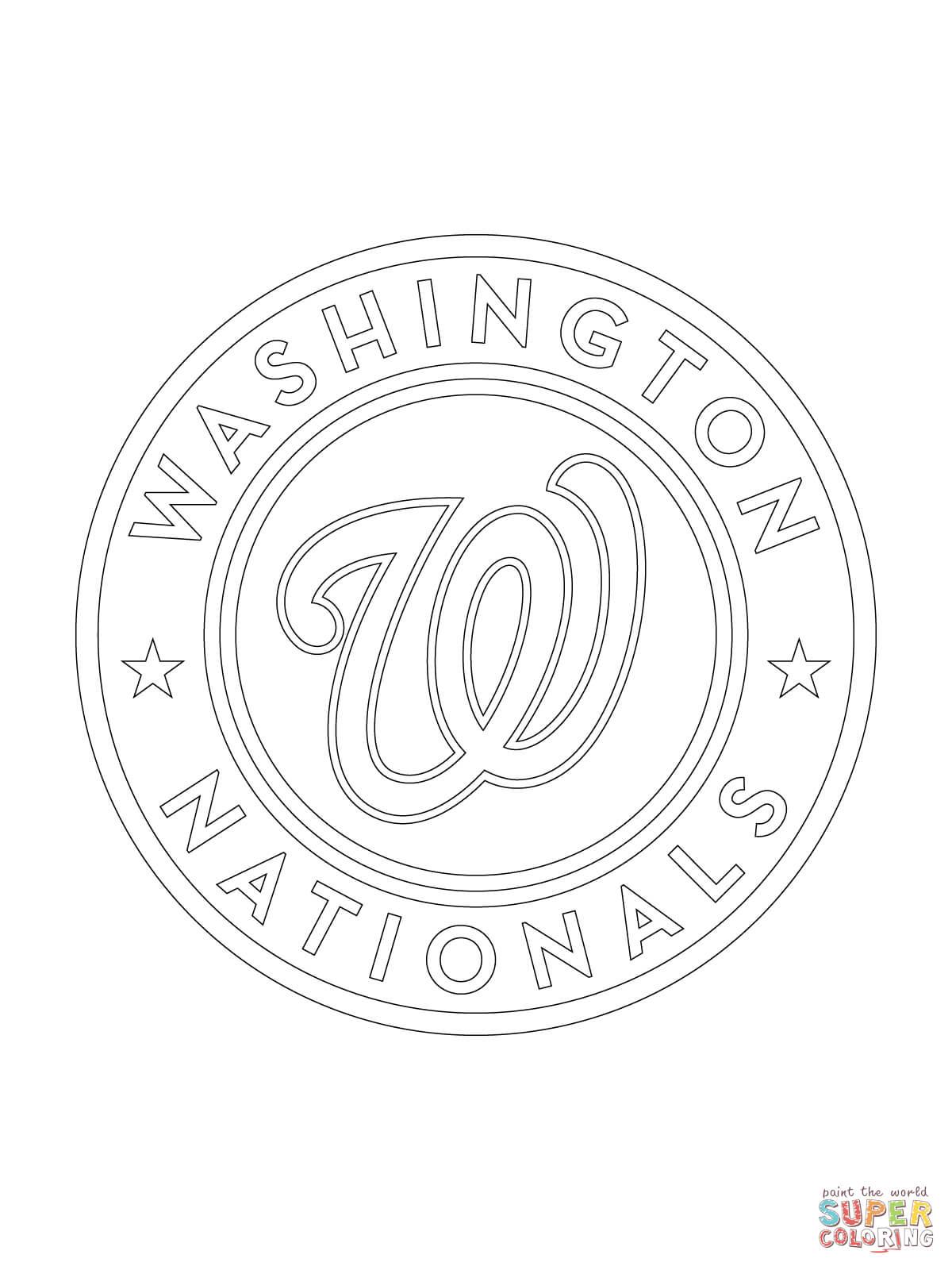 Washington Nationals Logo Coloring Page