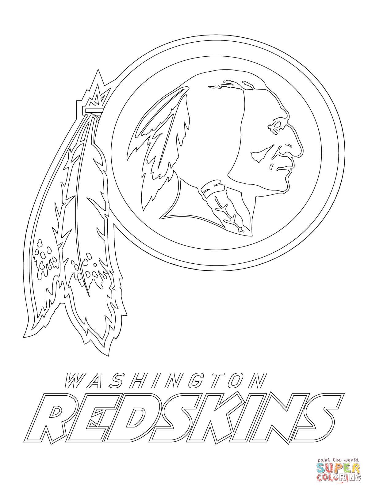 Washington Redskins Logo Coloring Page