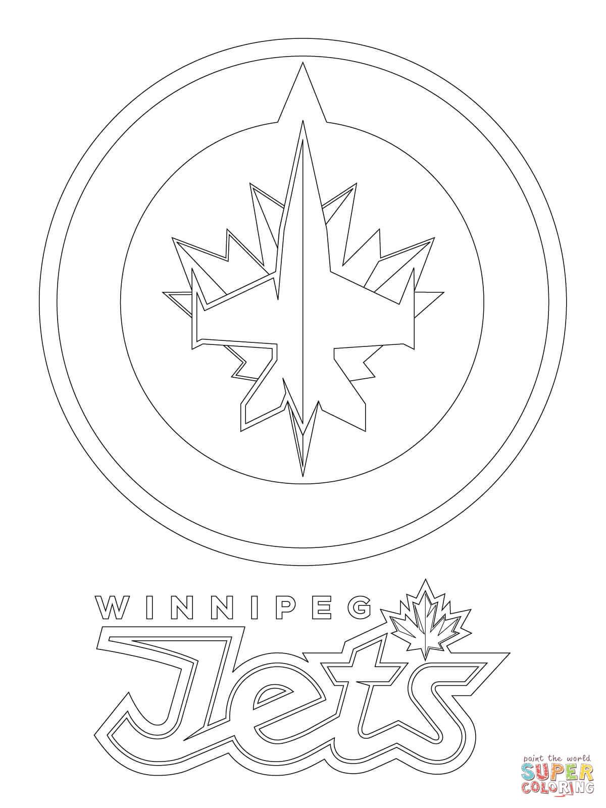 Winnipeg Jets-logo värityskuva