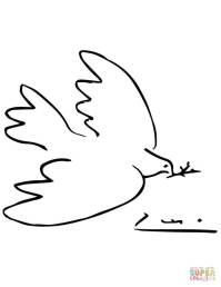 Disegno di Colomba della Pace di Picasso da colorare ...