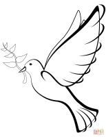 Friedenstaube Zum Ausdrucken   Vorlagen zum Ausmalen ...
