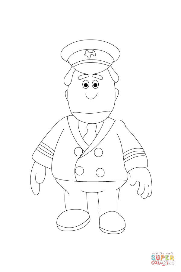 Pilot Hat Coloring Pages For Kids Sketch Coloring Page