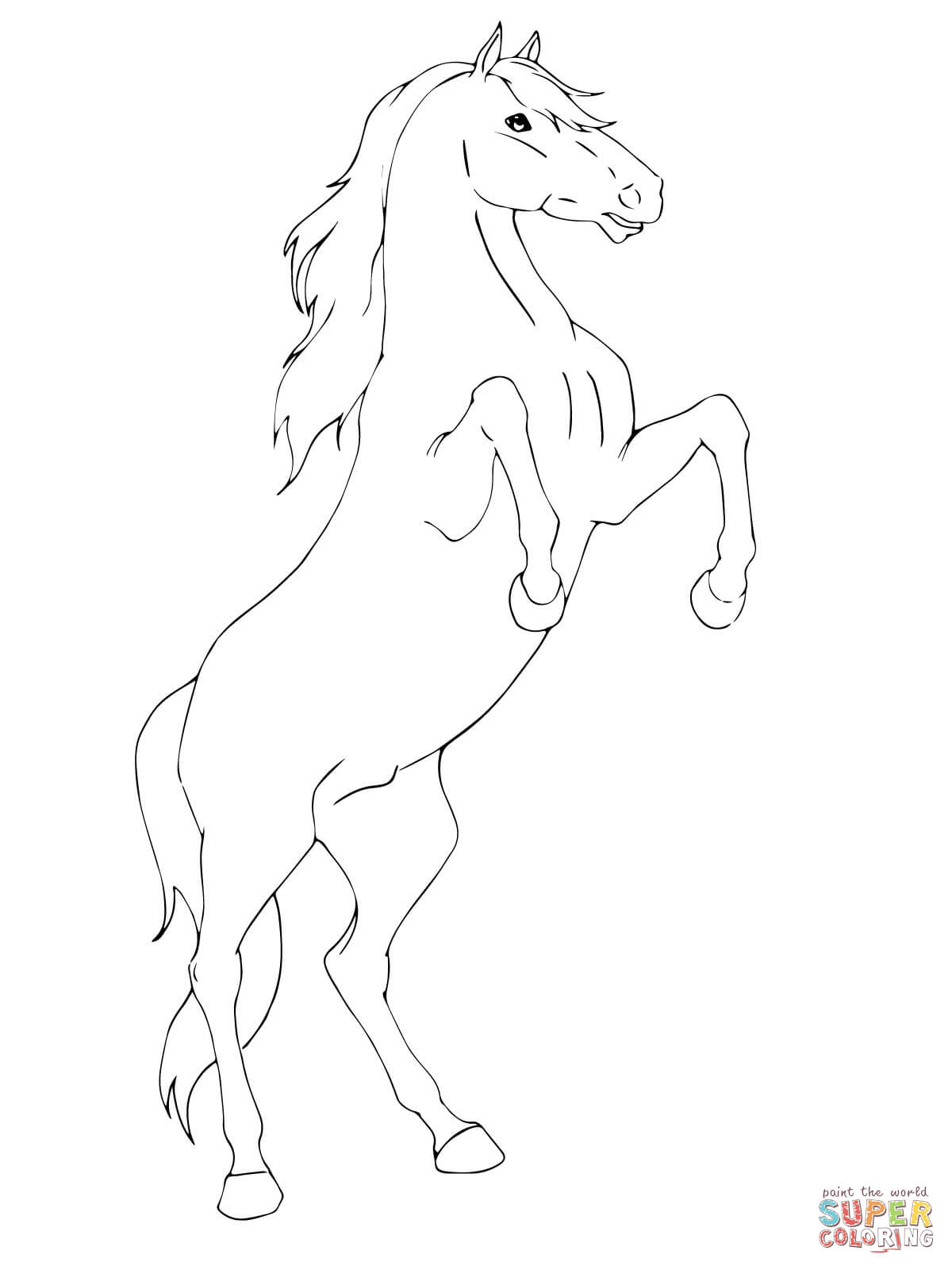Rearing Horse Coloring Page