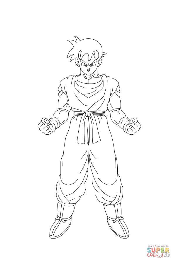 Dibujo de Son Gohan Está Listo Para Luchar para colorear