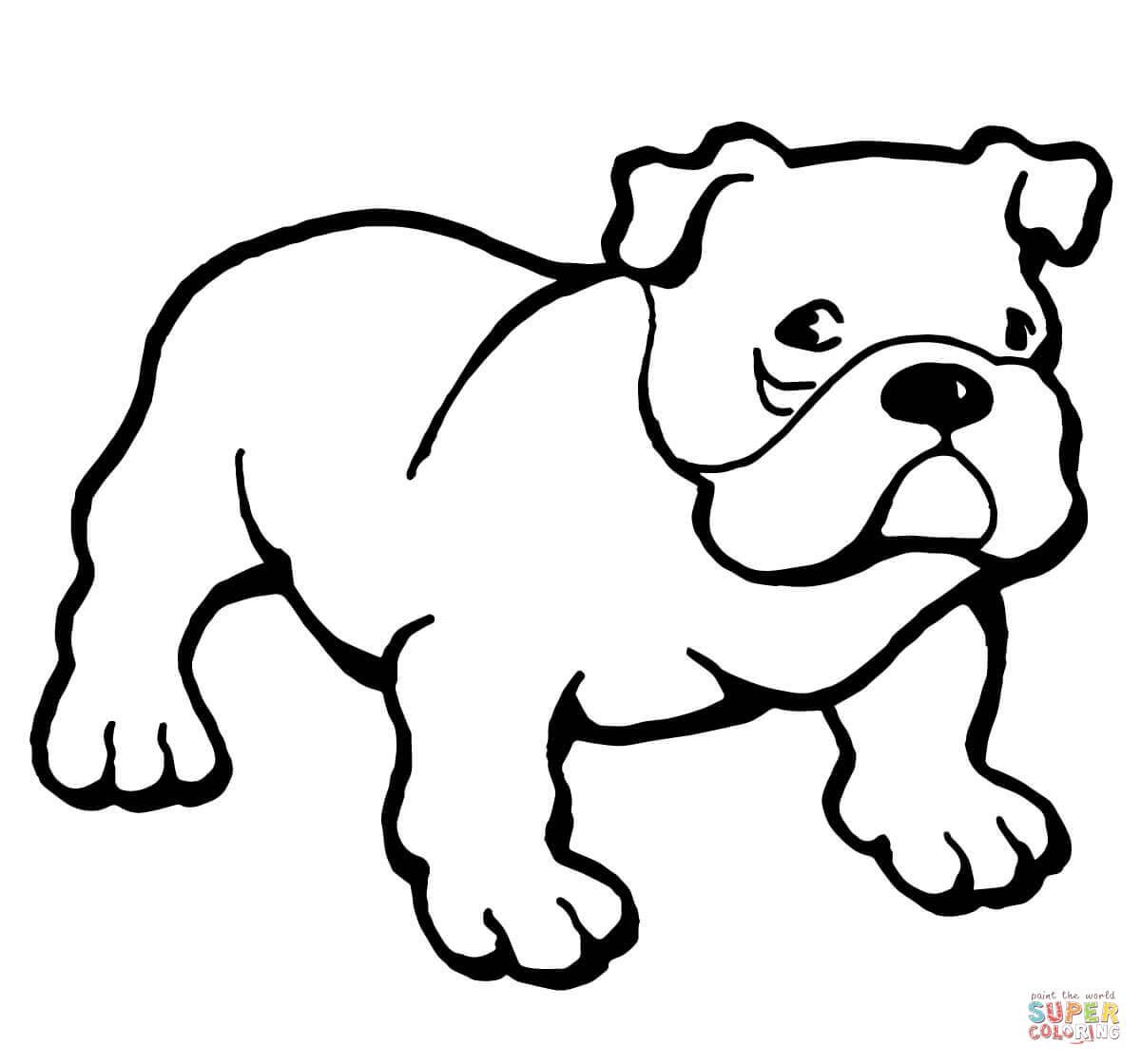 Ausmalbilder Hunde Franzosische Bulldogge - tippsvorlage