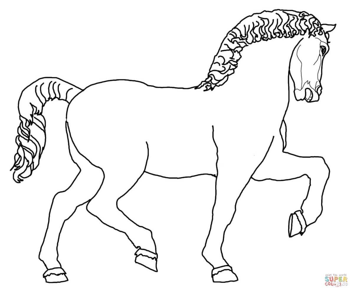 Disegno di Scultura di Cavallo di Leonardo da colorare