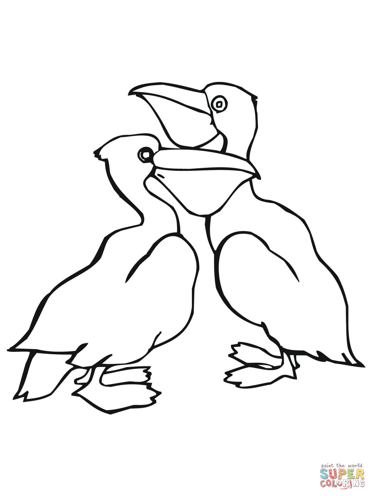 Pelican Coloring Pag Coloring Pages