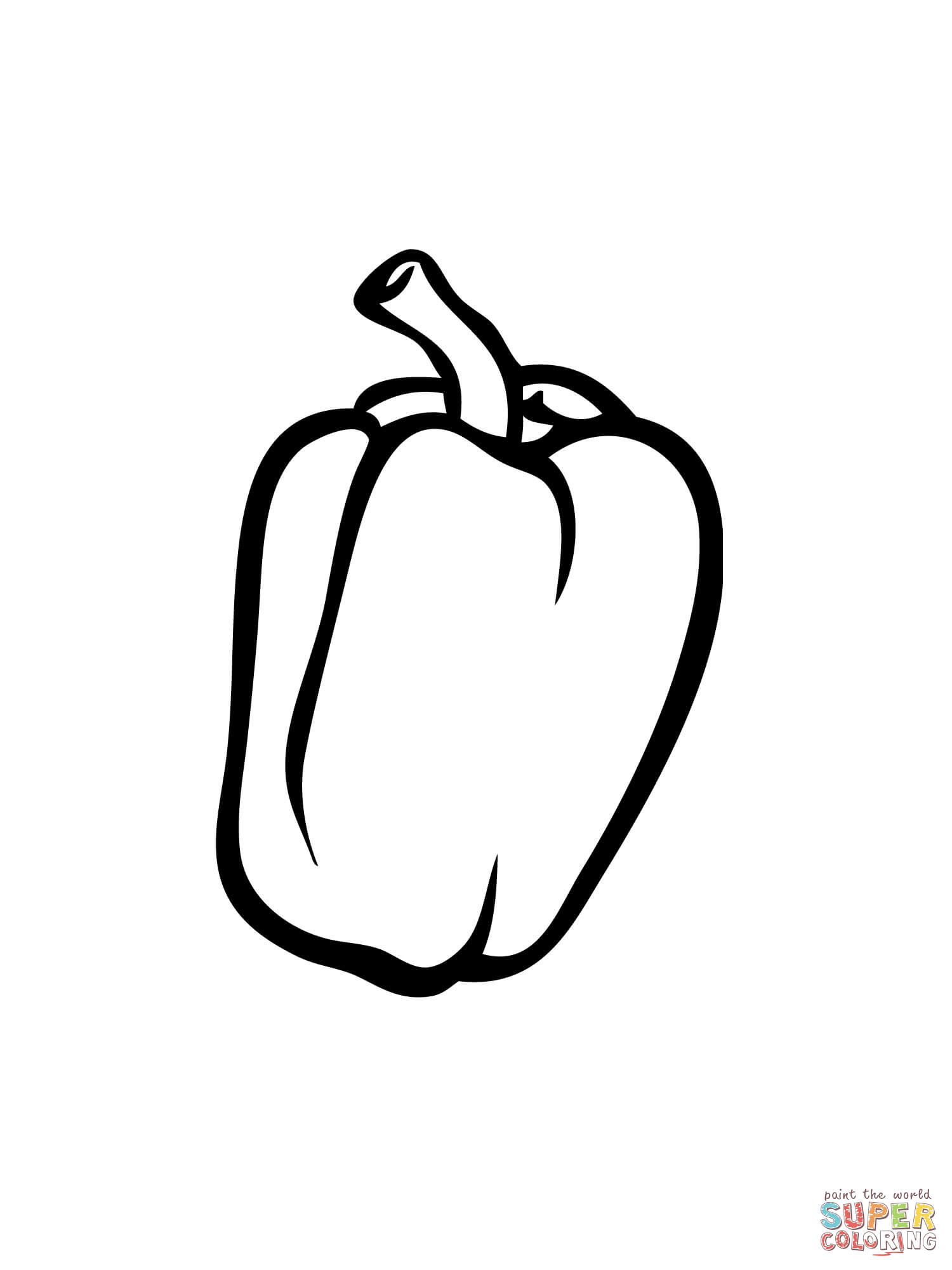 Bell Pepper Coloring Page
