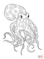 Blue Ringed Octopus coloring page   Free Printable ...