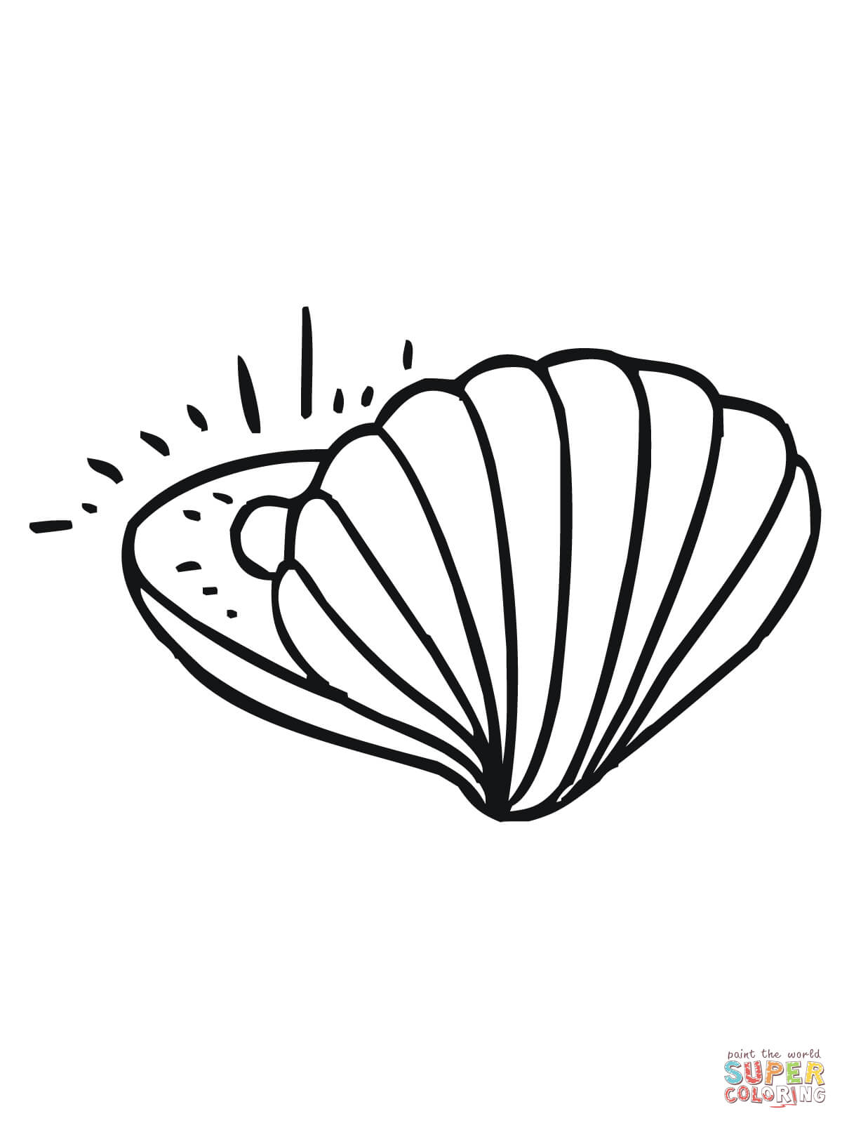 Clam With Pearl Coloring Page Free Printable Coloring Pages