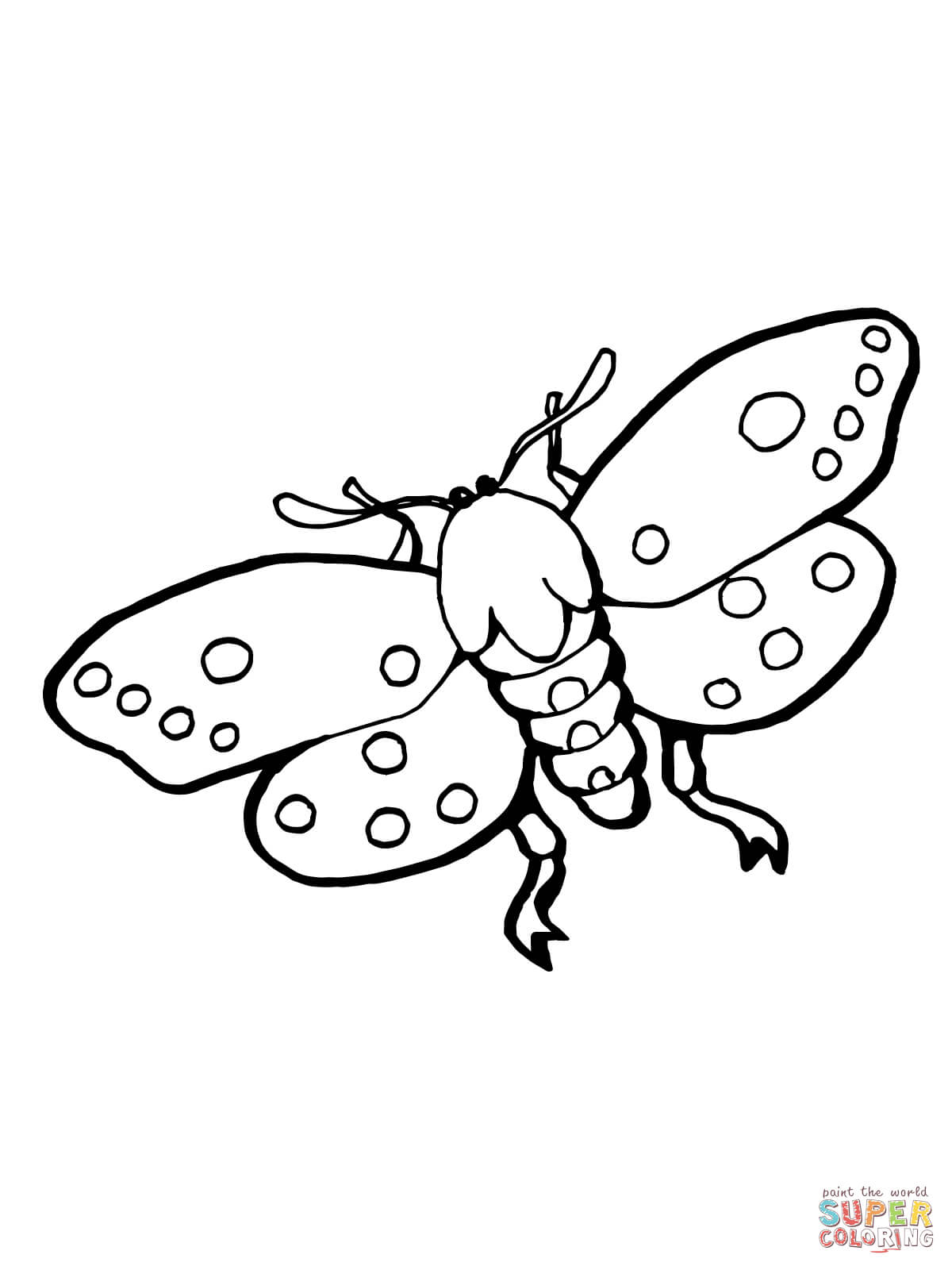 Moths Insect Coloring Page Free Printable Coloring Pages