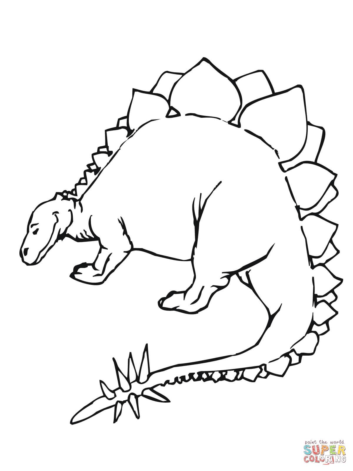 Stegosaurus Jurassic Dinosaur Coloring Page