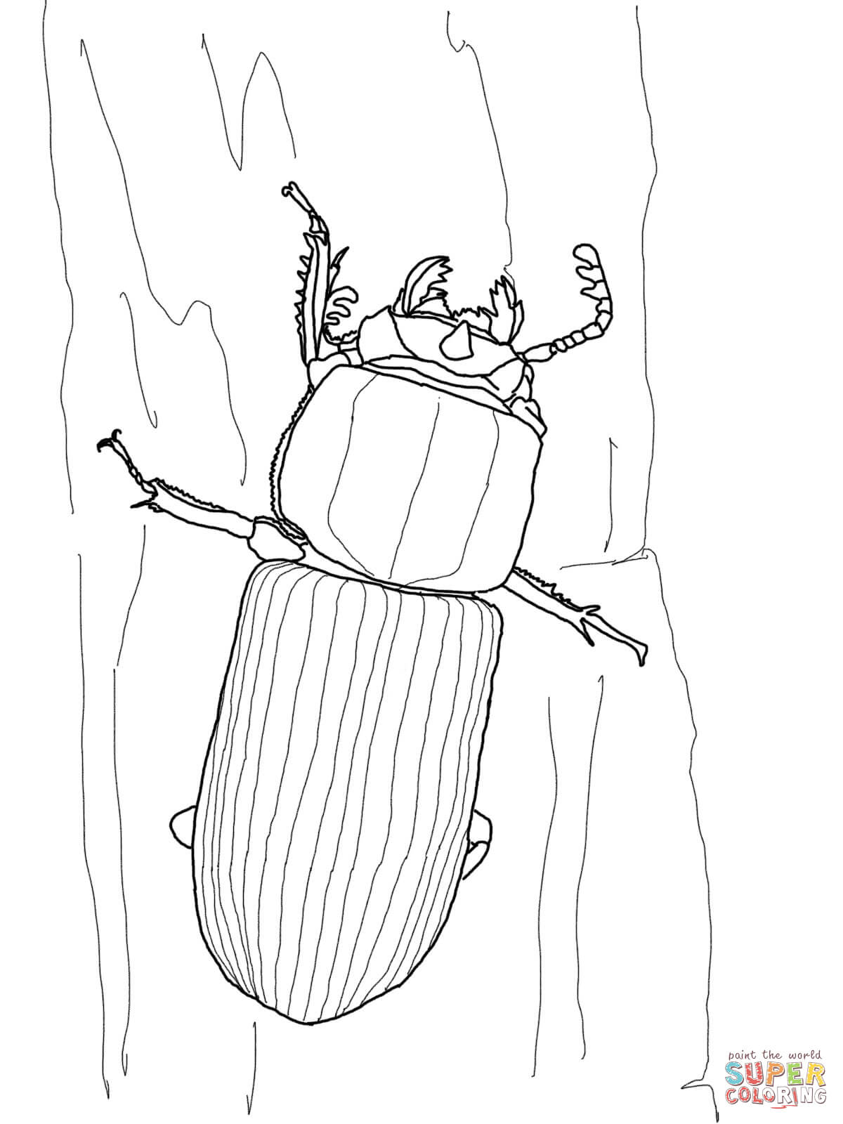 Bess Beetle Coloring Page