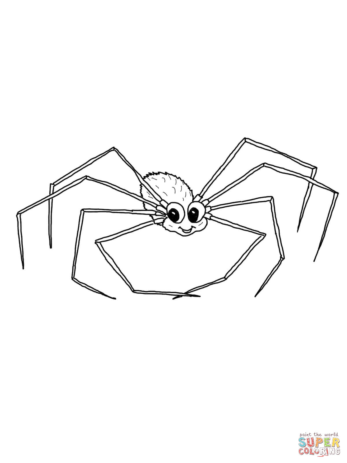 Cute Daddy Long Legs Coloring Page