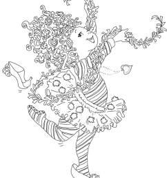 fancy nancy coloring page [ 1200 x 1600 Pixel ]