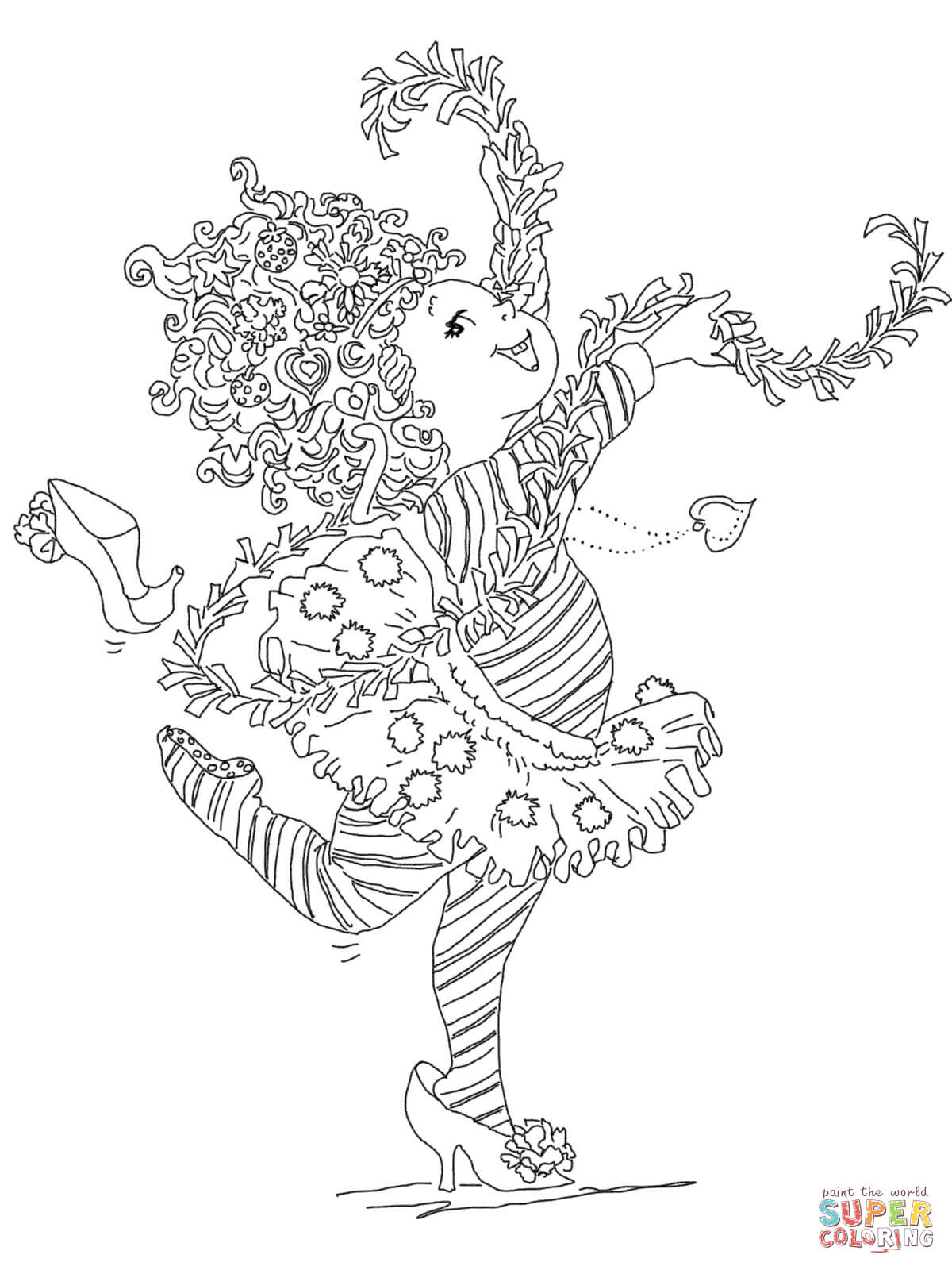 hight resolution of fancy nancy coloring page