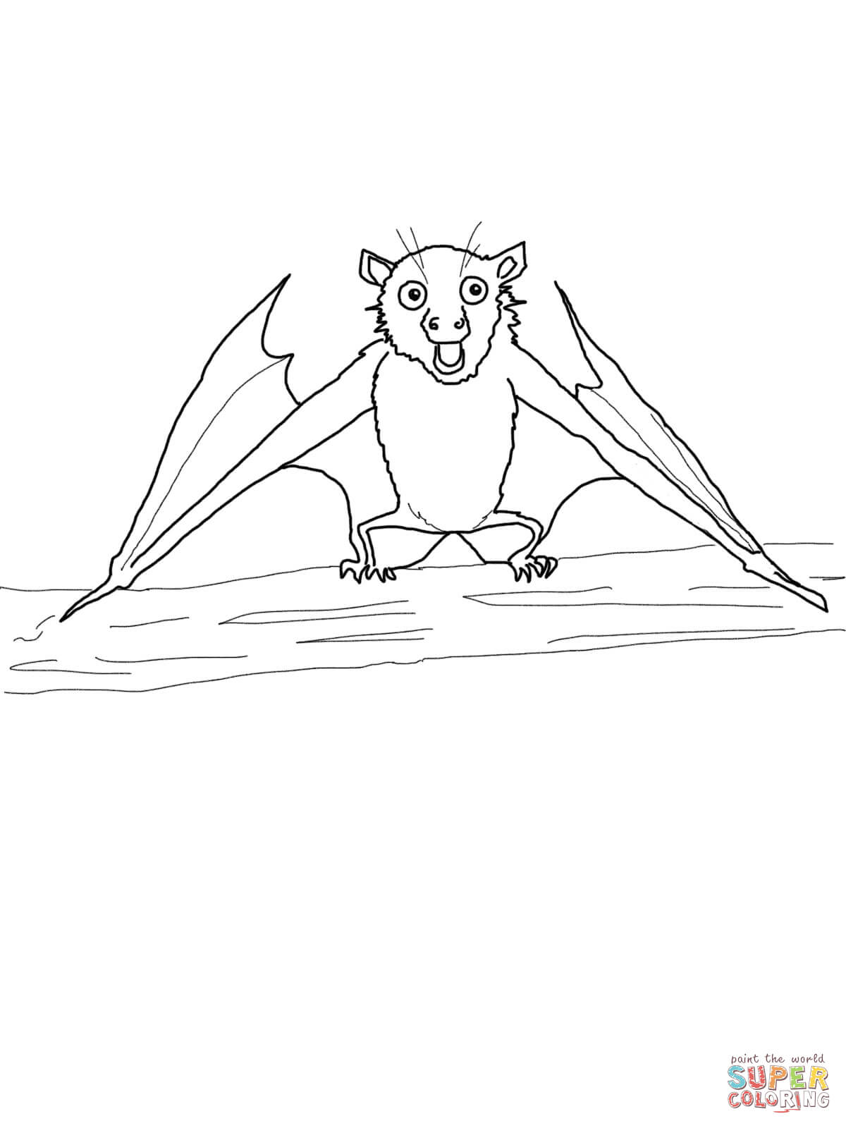 Stellaluna Fruit Bat Coloring Page