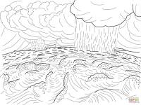 Second Day of Creation coloring page   Free Printable ...