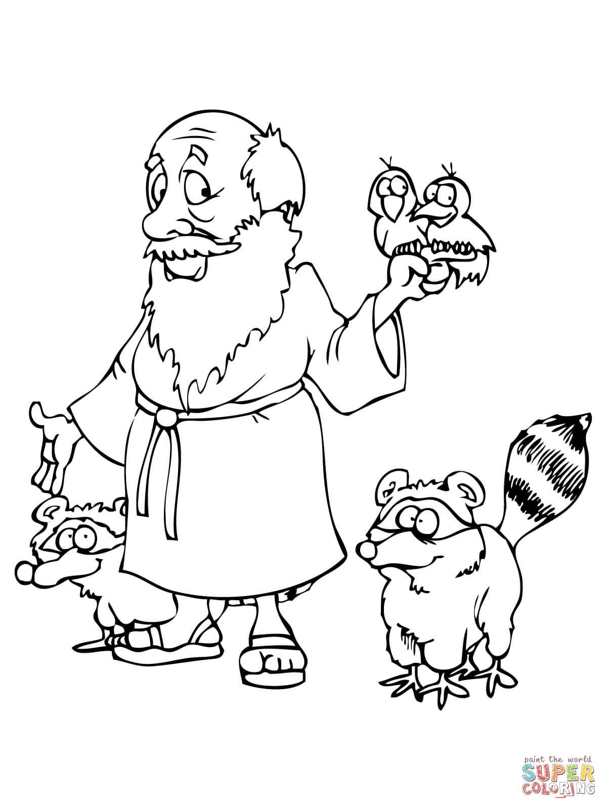 Ausmalbild Noah Mit Tieren Ausmalbilder Kostenlos Zum