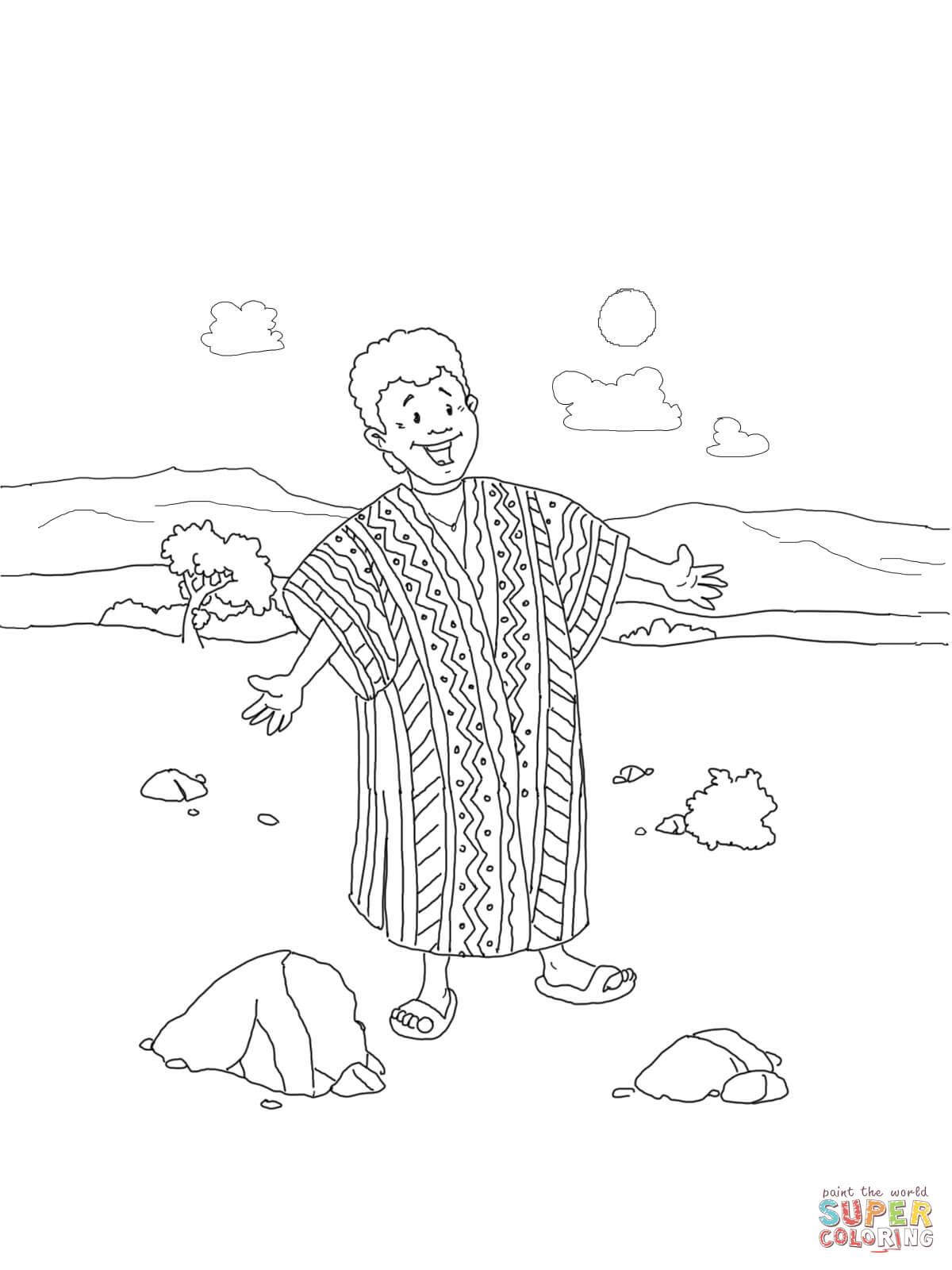 Ausmalbild Josef und sein bunter Mantel Ausmalbilder