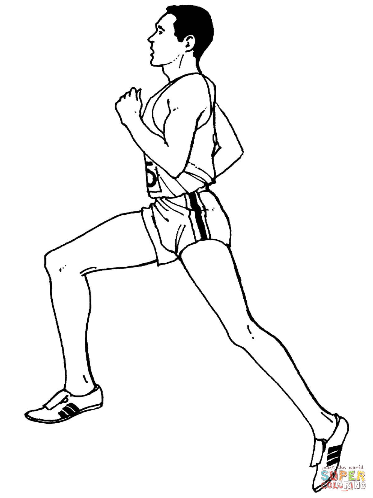 Average Distance Running Coloring Page