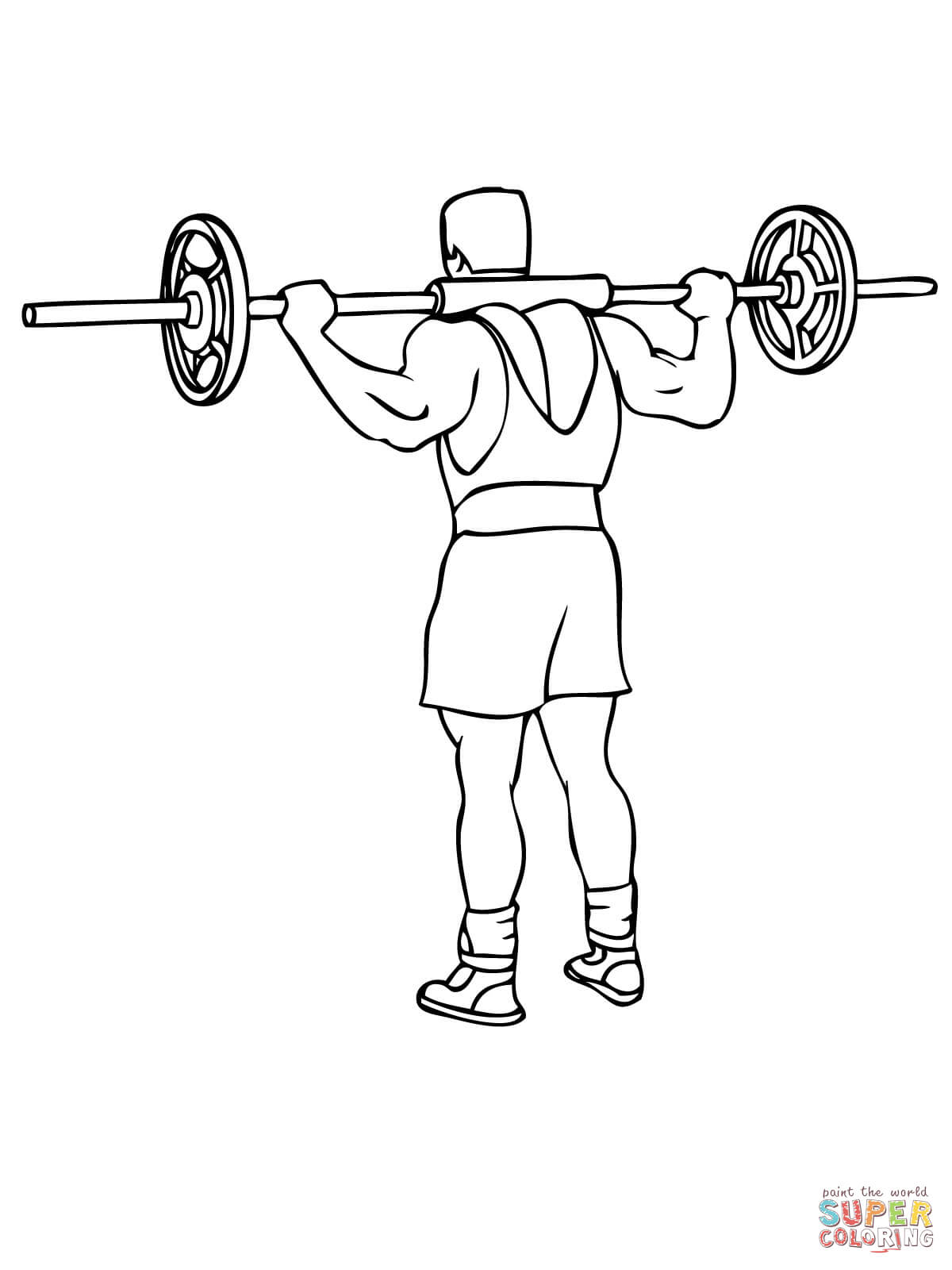 Weights Coloring Pages