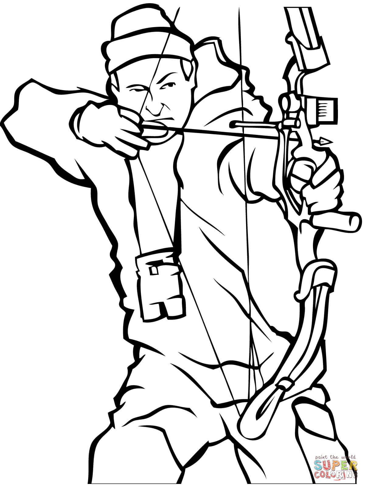 Bow Hunting Coloring Page