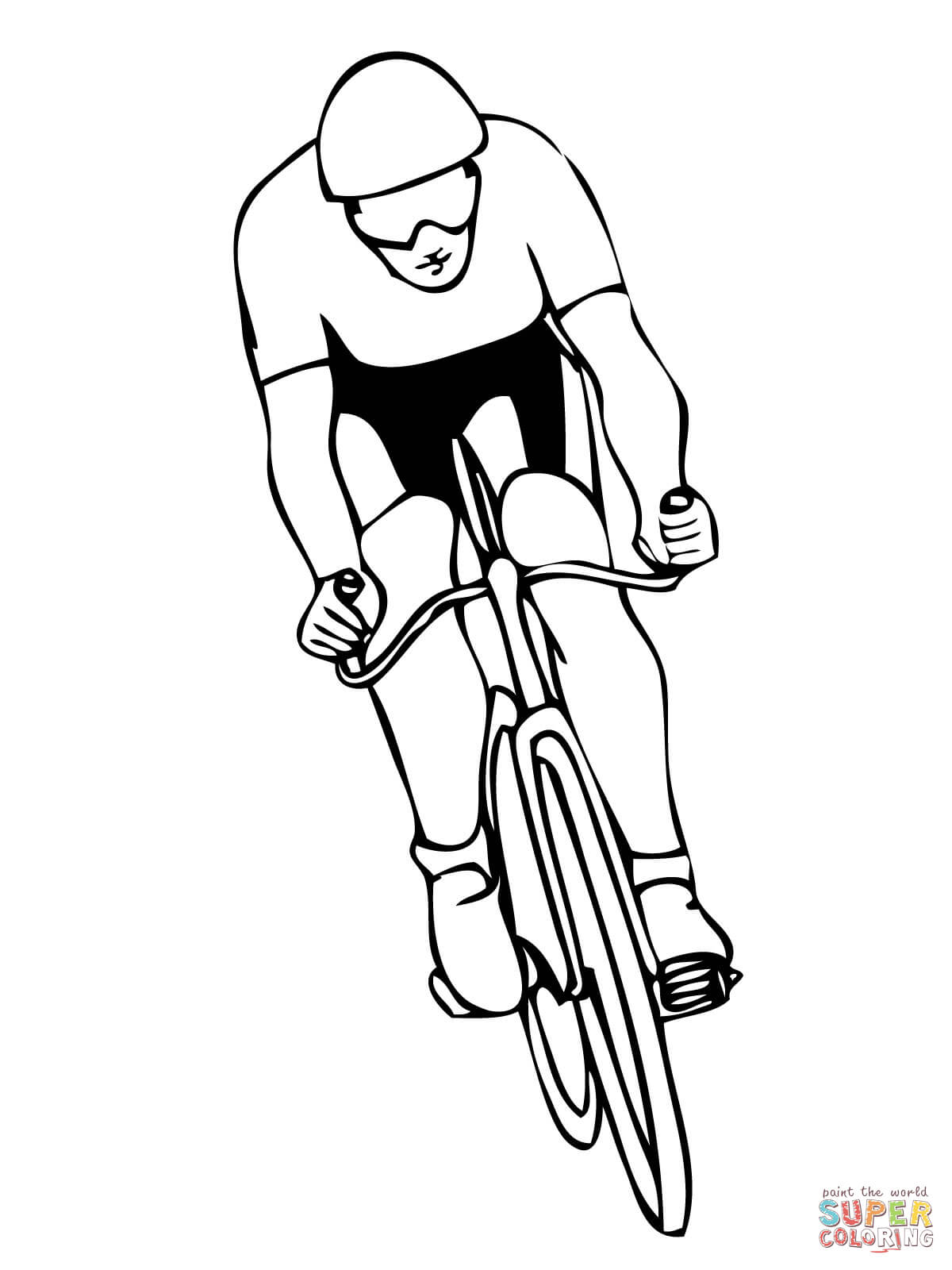 Cycling Sport Coloring Page