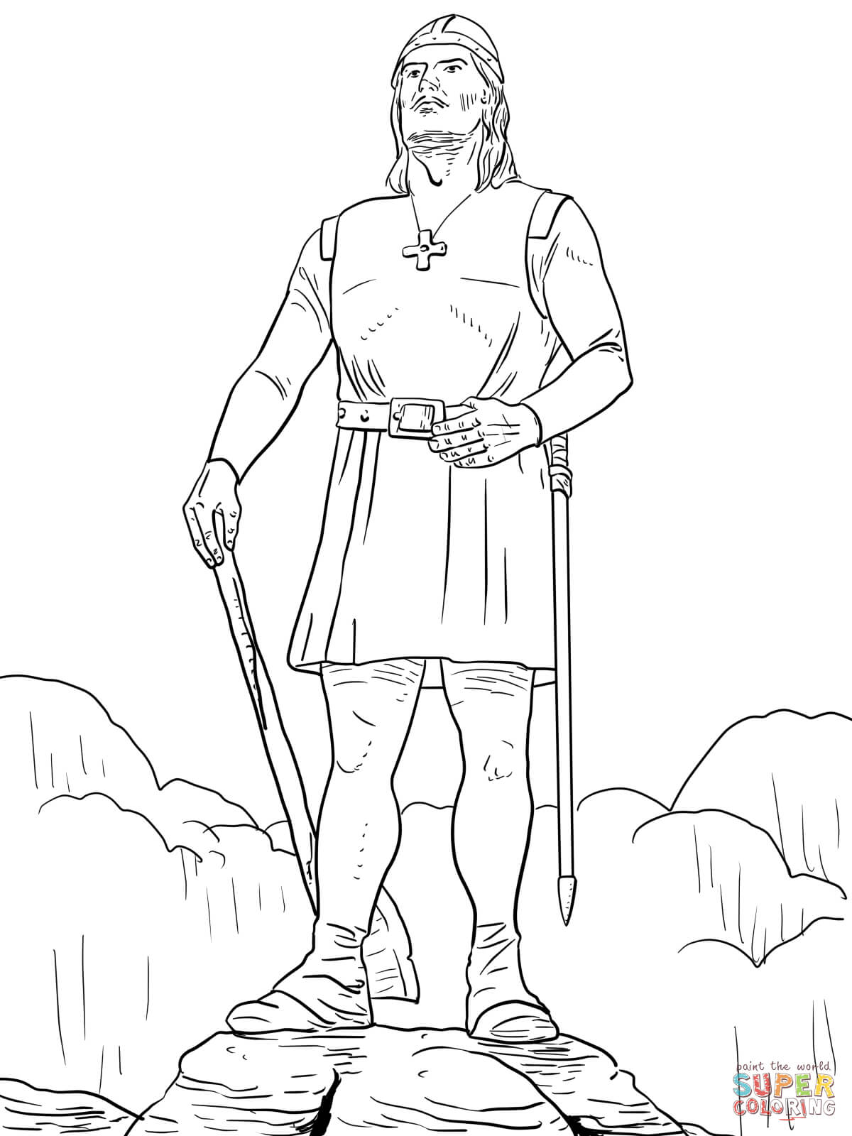 Leif Erikson Coloring Page