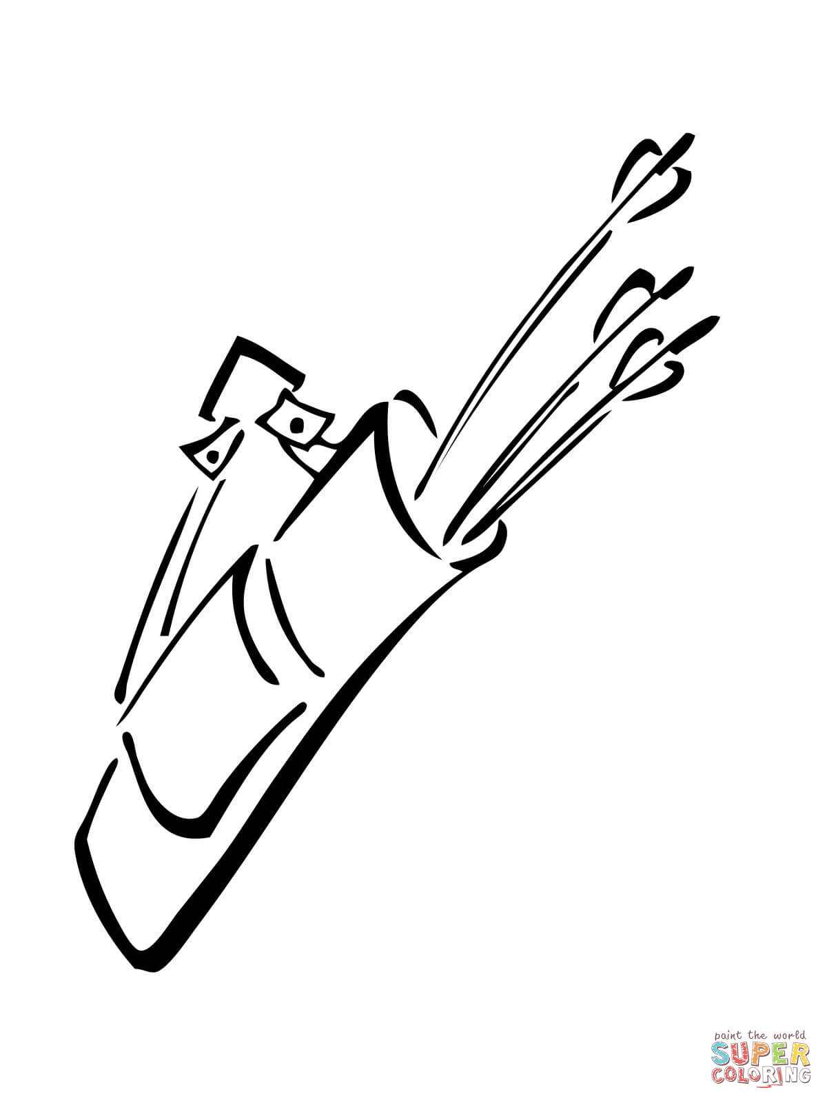Quiver With Arrows Coloring Page Free Printable Coloring Pages
