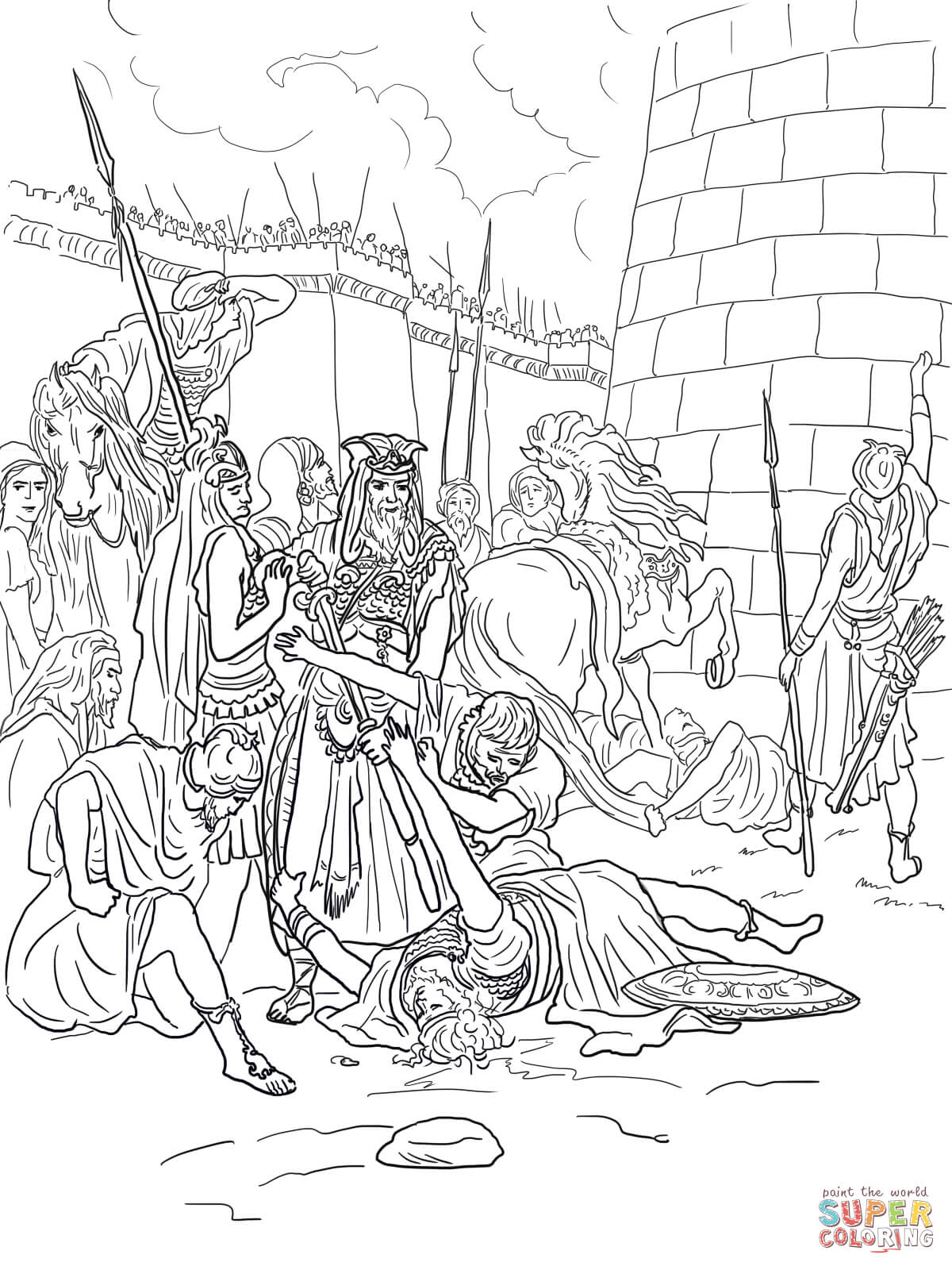 The Of Abimelech Coloring Page