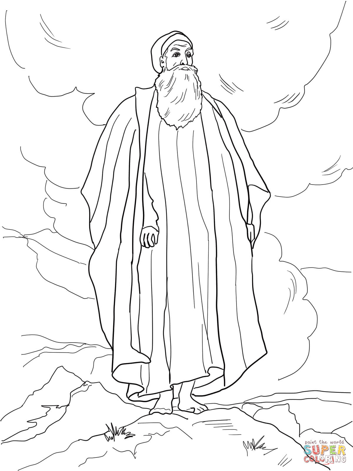 Moses Views The Promised Land Coloring Page