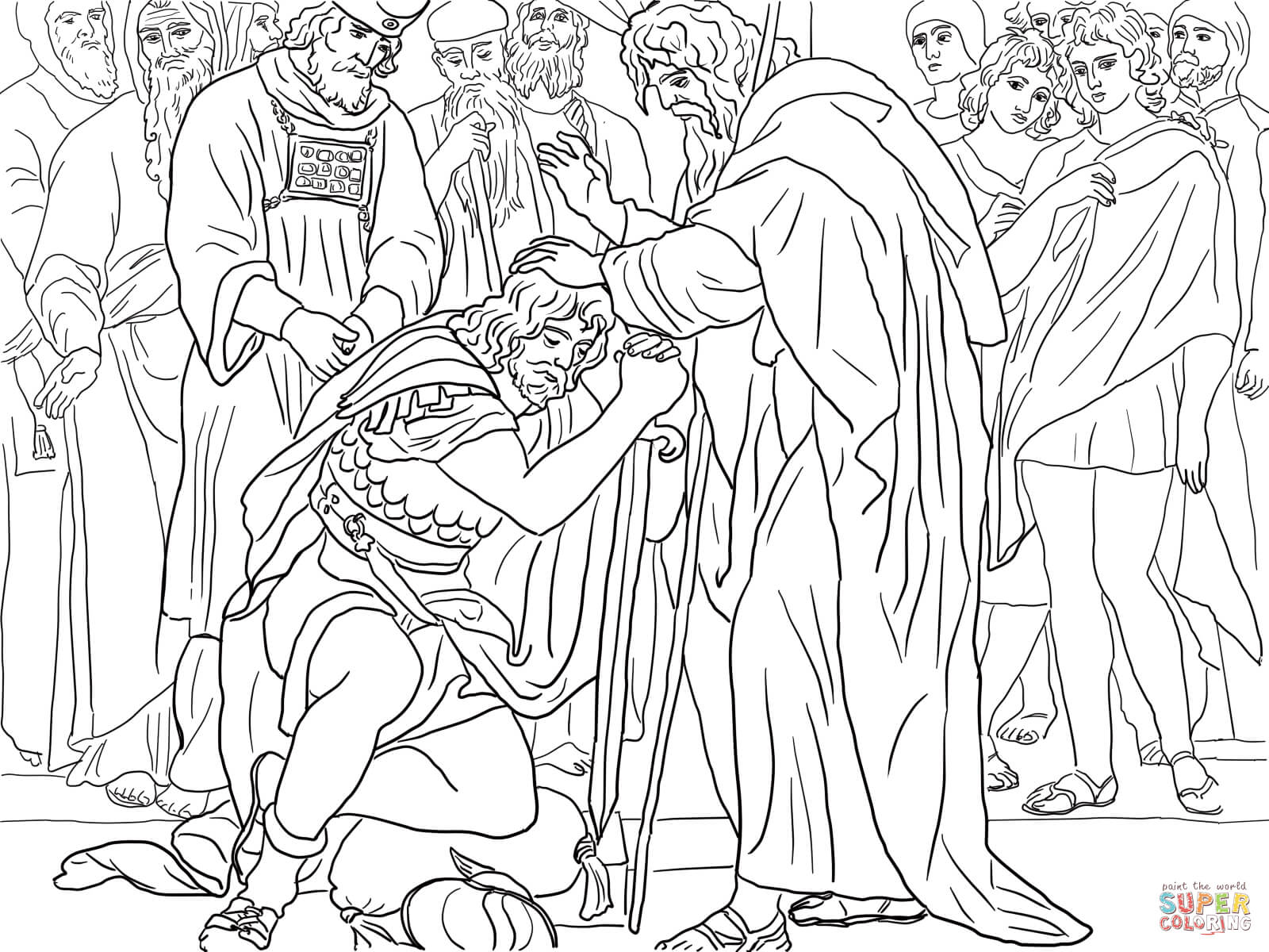 Joshua is Named the Successor of Moses coloring page