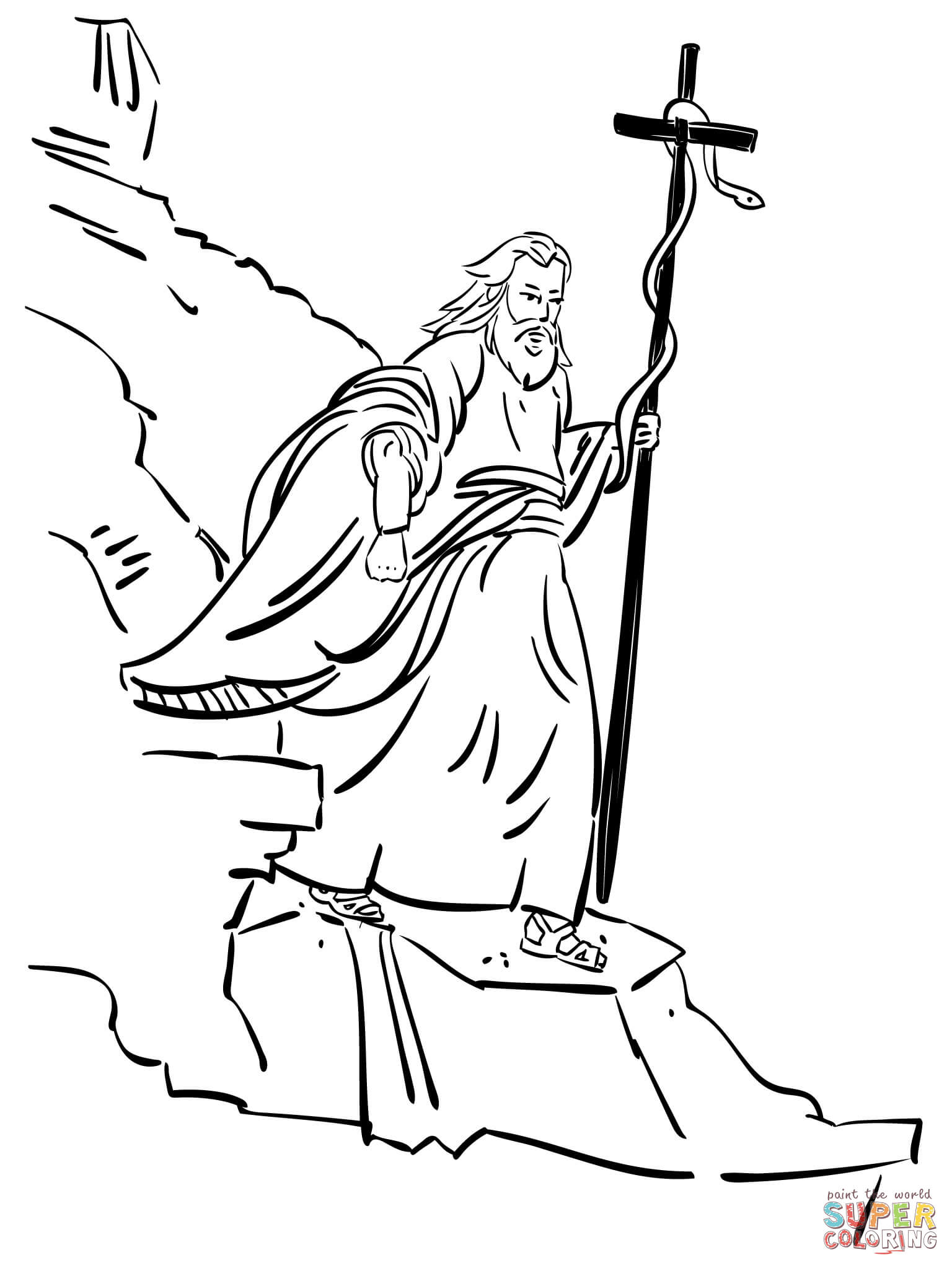 Moses Staff Snake Coloring Page Coloring Pages