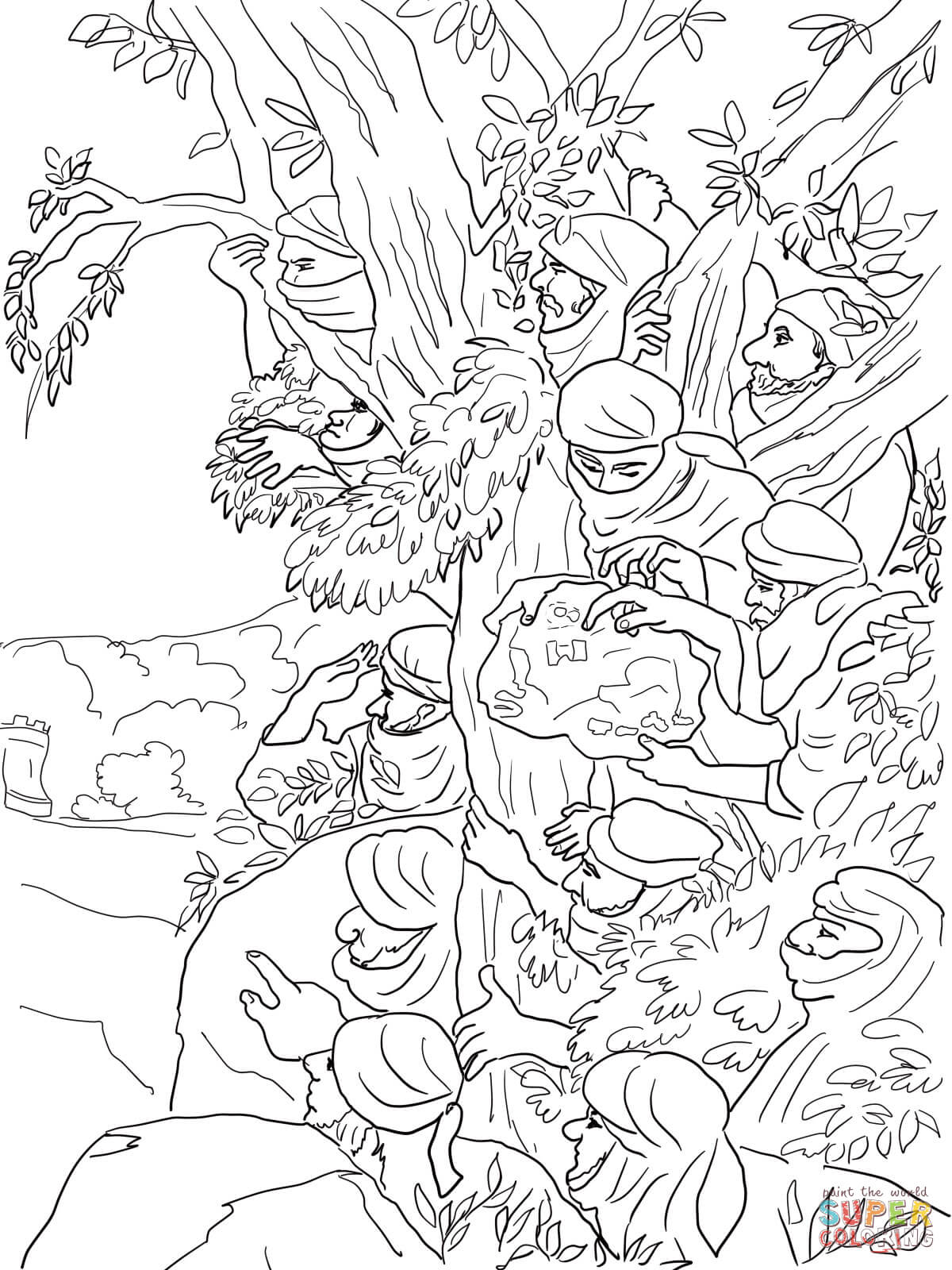12 Spies Sent To Canaan Coloring Page