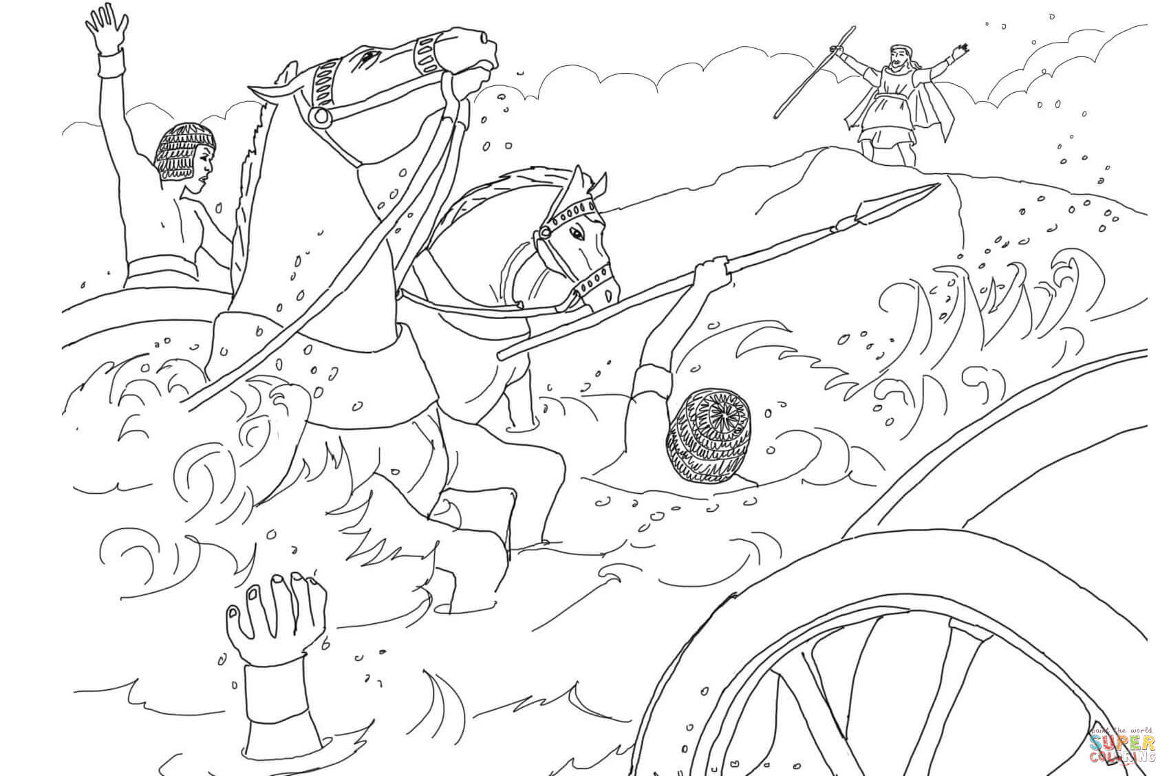 Moses And Pharaoh Coloring Pages Coloring Pages