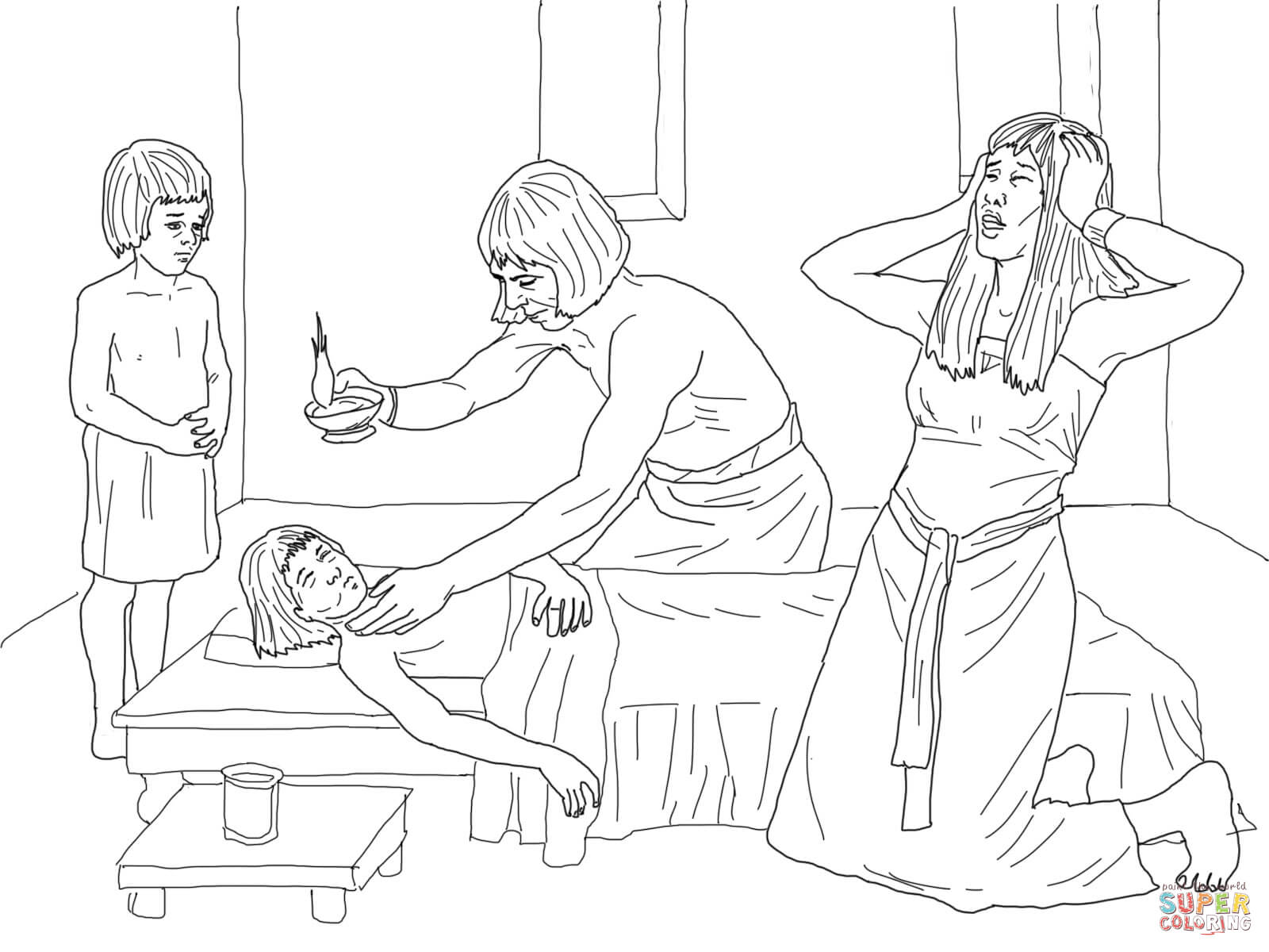 Of The Firstborn Coloring Page