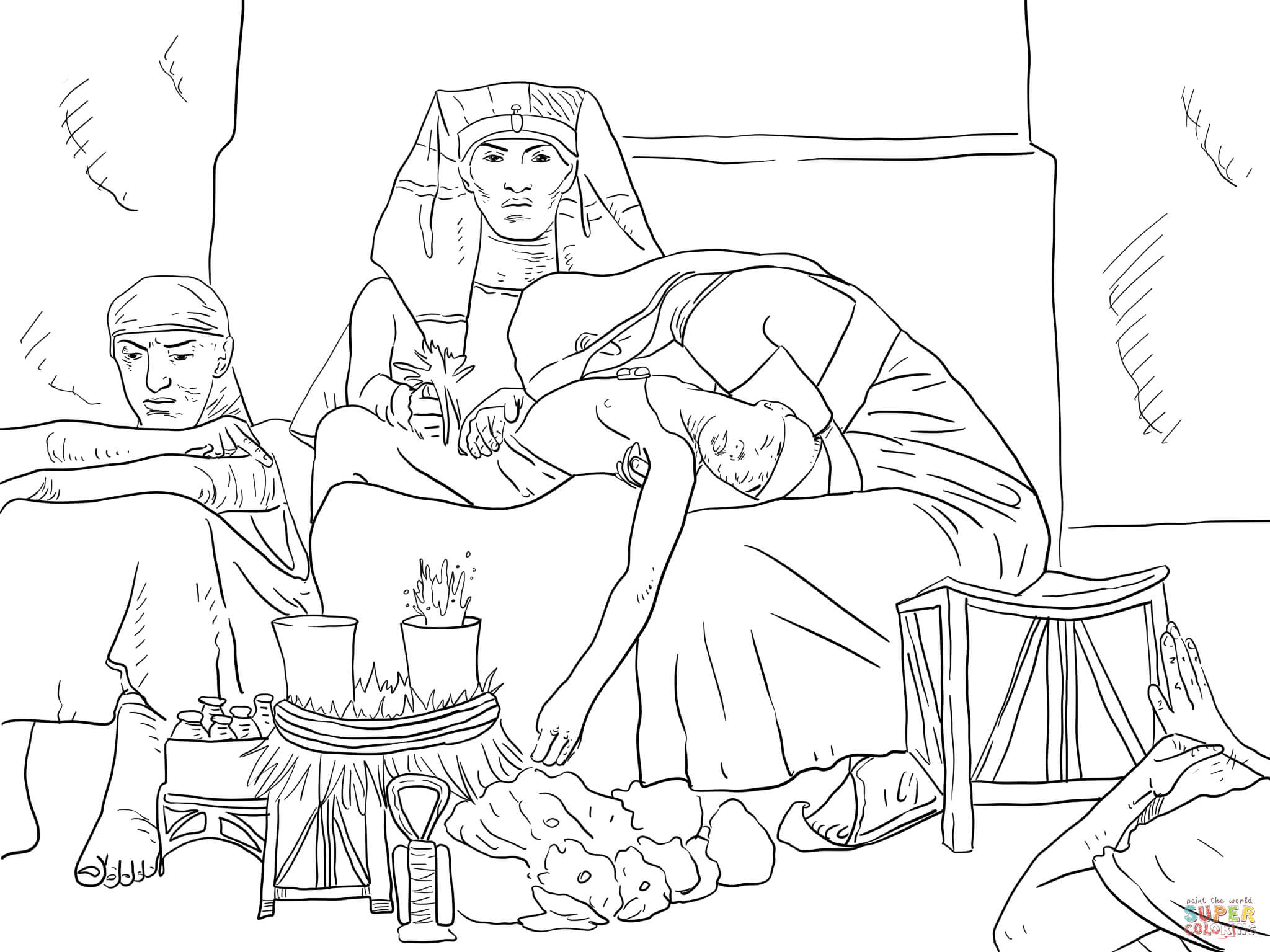 Of The Pharaoh Firstborn Son Coloring Page