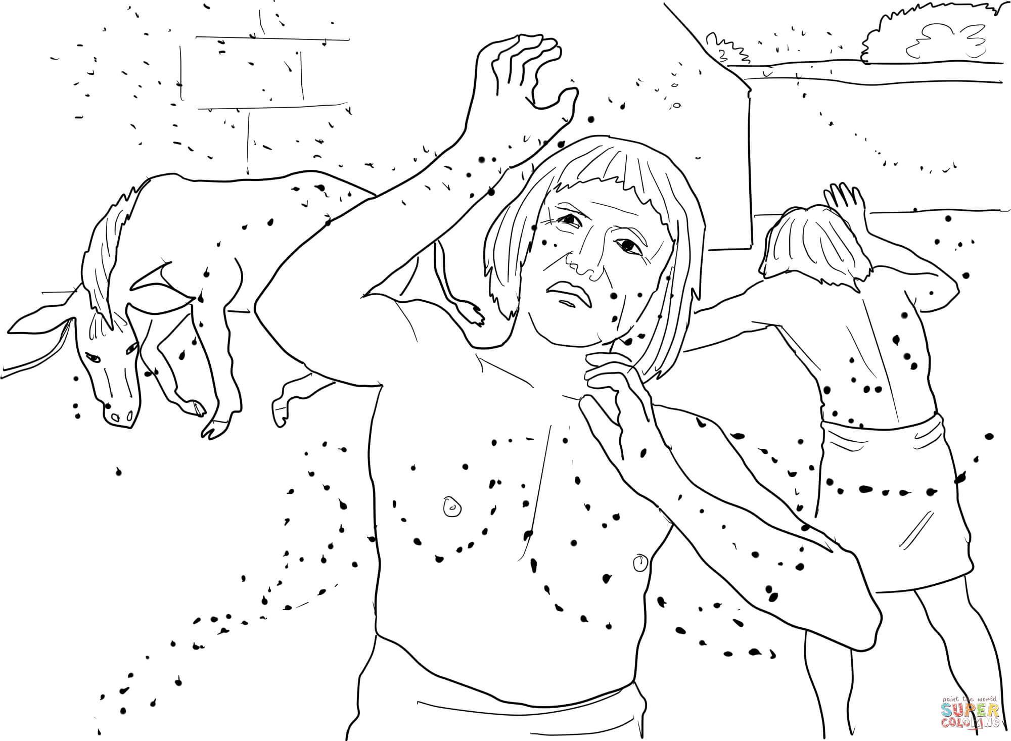 Moses 10th Plague Coloring Pages Coloring Pages